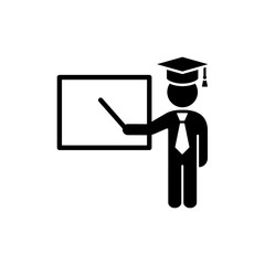 presentation sign simple icon black