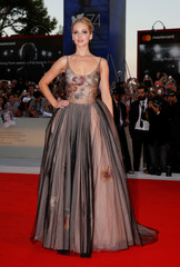 """Actor Jennifer Lawrence poses during a red carpet for the movie """"Mother!"""" at the 74th Venice Film Festival in Venice"""
