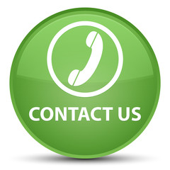 Contact us (phone icon) special soft green round button
