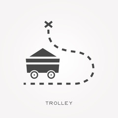 Silhouette icon trolley
