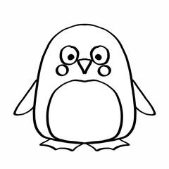 cute penguin colouring