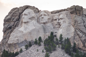 American Presisents Granite Rock Mount Rushmore South Dakota