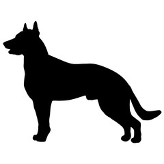 Silhouette of a dog.Vector illustration