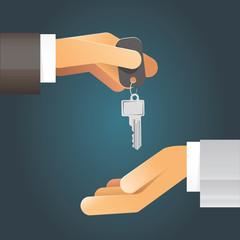 Illustration 2 Hände bei Schlüsselübergabe