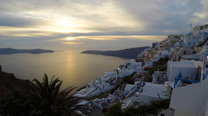 City Scape of a Greek Island in Europe