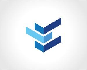 square shape 3d logo
