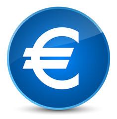 Euro sign icon elegant blue round button