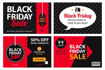 black friday sale invitation