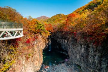 Beautiful in autumn, Jaein Falls.