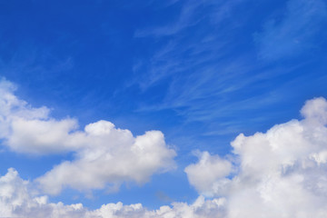 Nice blue cloudy sky in sunny day