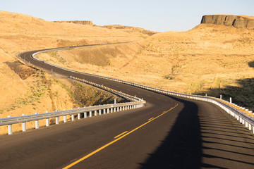 Eastern Washington Desert Highway Lyons Ferry Road