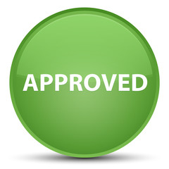 Approved special soft green round button