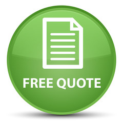 Free quote (page icon) special soft green round button