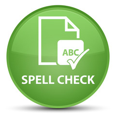 Spell check document special soft green round button
