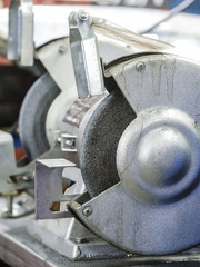 grinding machine close up