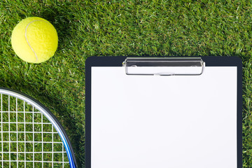 on a green lawn tablet and things for big tennis
