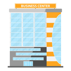 Modern Flat Commercial Office. Business center, business center icon, building
