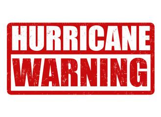 Hurricane warning sign or stamp