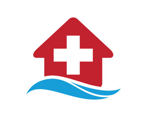 red house healthcare medical pharmacy icon image vector