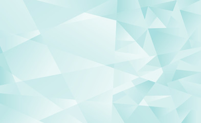 Abstract Green Blue polygonal background. Vector