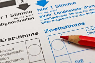 Wahlschein ankreuzen