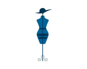 blue mannequin fashion dress beauty display image vector