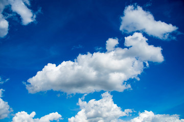 beautiful blue sky and cloud at sunny day.