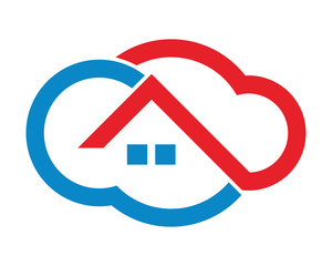 cloud roof building residential architecture icon image vector