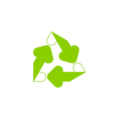 Recycling ecology thin line icon. Protection of the environment and nature linear sign. Ecological symbol for infographic, website or app.