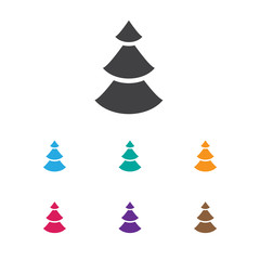 Vector Illustration Of Air Symbol On Fir Tree Icon. Premium Quality Isolated Evergreen Element In Trendy Flat Style.