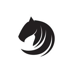 abstract horse head logo