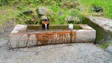 Trinkwasserbrunnen am Wanderweg