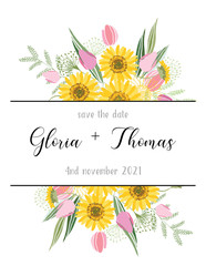 Greeting card for the wedding day