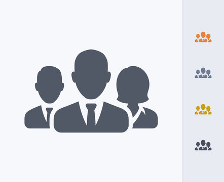 Business Avatars 2 - Carbon Icons. A professional, pixel-aligned icon designed on a 32x32 pixel grid and redesigned on a 16x16 pixel grid for very small sizes.