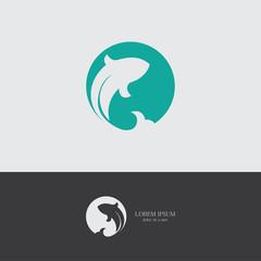 round fish logo