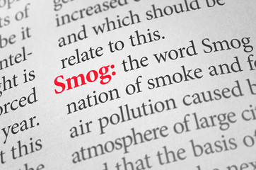 Definition of the word Smog in a dictionary
