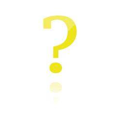 farbiges Symbol - rundes Fragezeichen