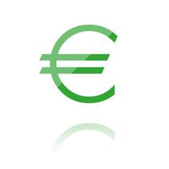 farbiges Symbol - dünnes Eurozeichen