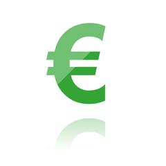 farbiges Zeichen - dickes Eurozeichen
