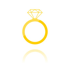 farbiges Symbol - Diamantring
