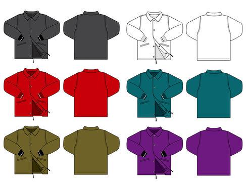Illustration of men's jacket / color variations