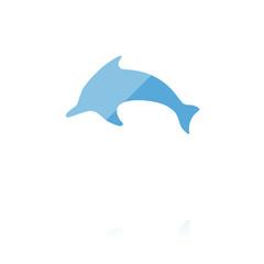 farbiges Symbol - Delfin