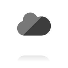 farbiges Symbol - Wolke