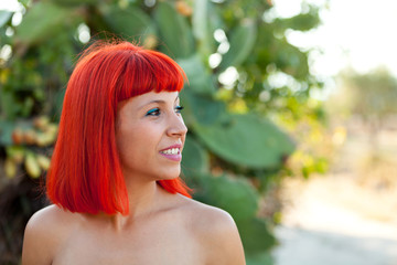 Beautiful portrait of a red hair girl