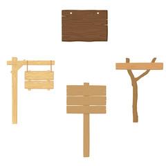 Wood sing, board. Raster copy.