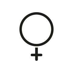 Venus symbol as gynecologist icon