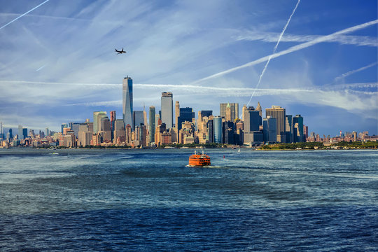 New York City with Ferries and Planes
