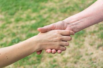 Handschlag Diagonal