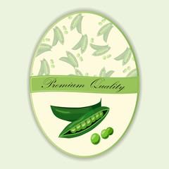 round peas with green stem leaf