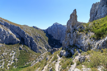 Foto auf AluDibond Gebirge Velebit mountain in Paklenica national park in Croatia